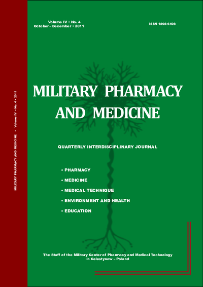 Military Pharmacy and Medicine. 2011. Volume IV. No. 4