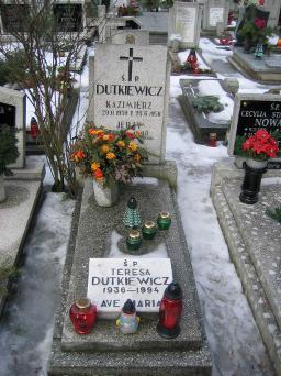 Poznański Czerwiec 1956 r. - Kazimierz Dutkiewicz - fotografia grobu z 2006 r.