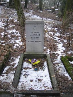 Poznański Czerwiec 1956 r. - Andrzej Gliński - fotografia grobu z 2006 r.
