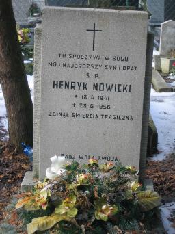 Poznański Czerwiec 1956 r. - Henryk Nowicki - fotografia grobu z 2006 r.