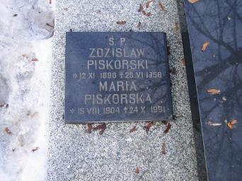 Poznański Czerwiec 1956 r. - Zdzisław Piskorski - fotografia grobu z 2006 r.