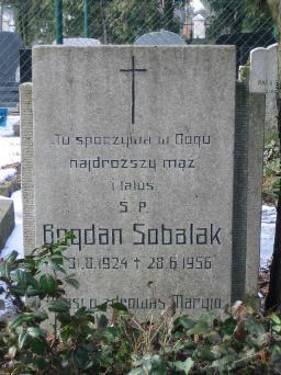 Poznański Czerwiec 1956 r. - Bogdan Sobalak - fotografia grobu z 2006 r.