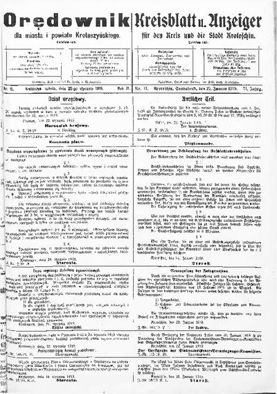 Orędownik dla Miasta i Powiatu Krotoszyńskiego 1919.01.25 R.71 Nr11