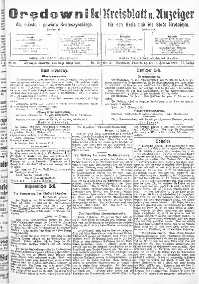 Orędownik dla Miasta i Powiatu Krotoszyńskiego 1919.02.13 R.71 Nr19
