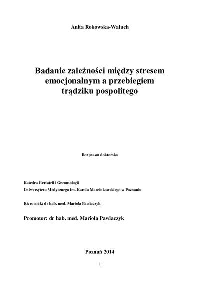 Badanie zależności między stresem emocjonalnym a przebiegiem trądziku pospolitego