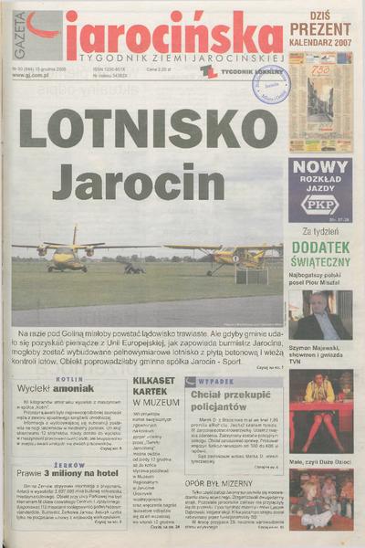 Gazeta Jarocińska 2006.12.15 Nr50(844)