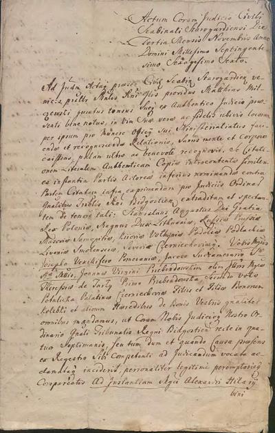 Papiery rodzinne ks. Franciszka Ksawerego Malinowskiego z lat 1766-1834