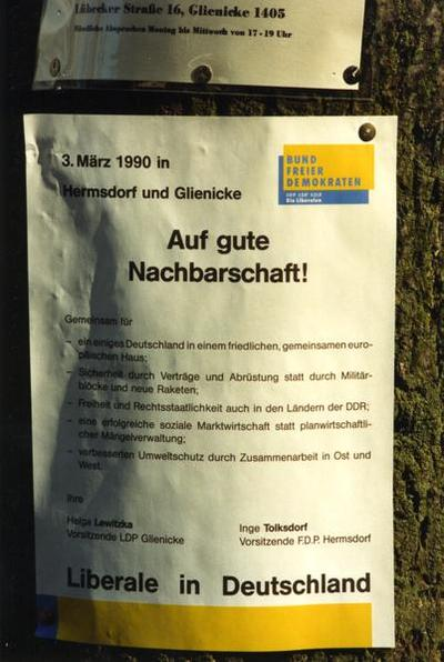BFD-Plakat Nachbarschaft