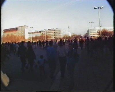 Berlin... nach dem Mauerfall (9. Nov. 1989). 25. Dezember 1989