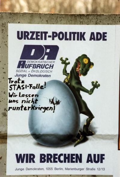 DA-Plakat Urzeit-Politik Ade