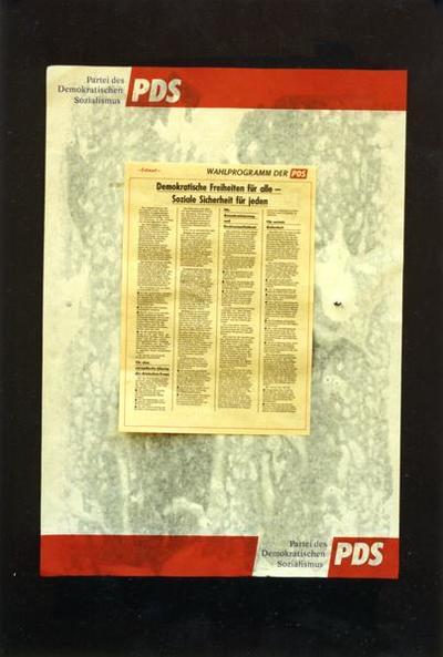 PDS-Plakat Wahlprogramm