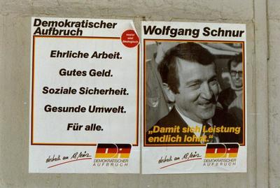 DA-Plakate Ehrliche Arbeit und Wolfgang Schnur