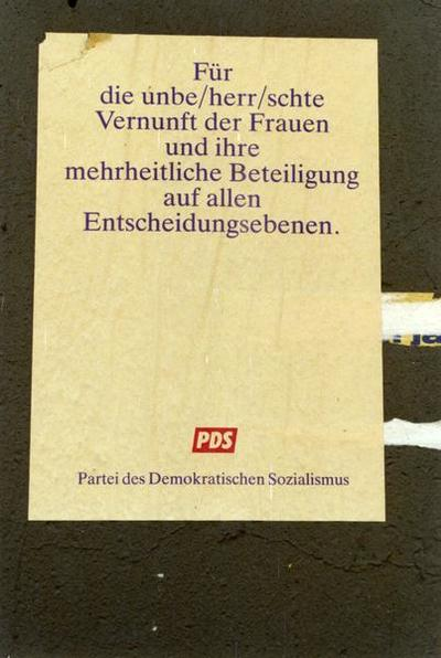 PDS-Plakat Vernunft der Frauen