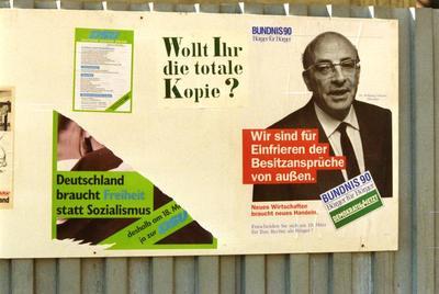 Bündnis 90- und DSU-Plakate