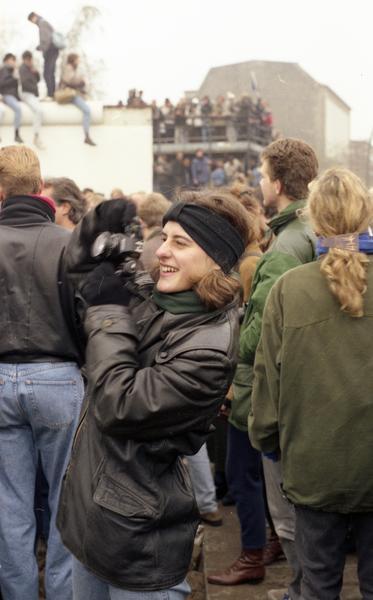 An der Berliner Mauer am Potsdamer Platz