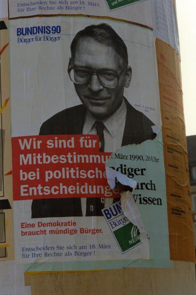 Bündnis 90-Plakat Mitbestimmung