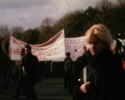 Demonstration auf der Straße des 17. Juni