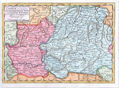 Partie Meridionale des Etats de Castille ou se trouvent l´Extremadure-de-Leon et la Castille Nouvell