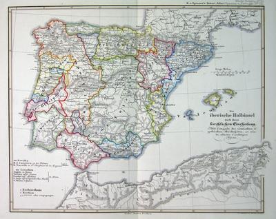 Die Iberische Halbinsel Nach Ihrer Kirchlichen Eintheilung