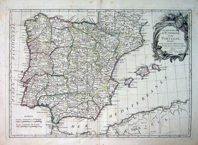 Les Royaumes D´Espagne et de Portugal Divisés Par Grandes Provinces