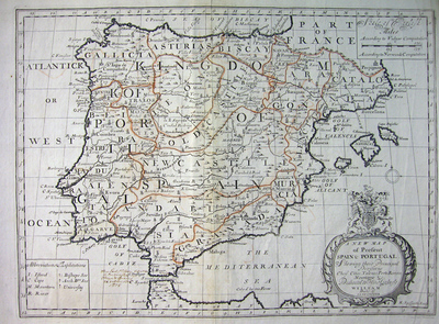 A New Map Of Present Spain & Portugal...