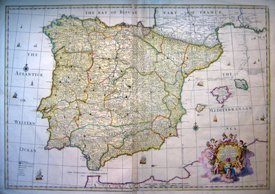 A Correct Map of Spain & Portugal according to the newest Observations and Discoveries...