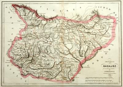 Provincia de Badajoz formada de parte de Estremadura