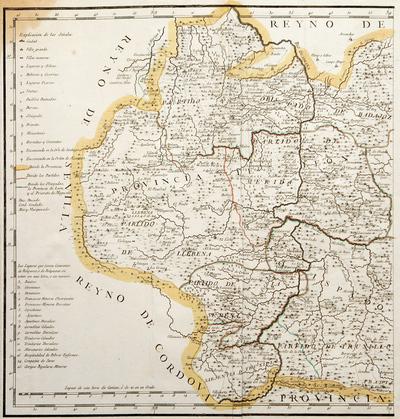 Mapa de la Provincia de Estremadura...