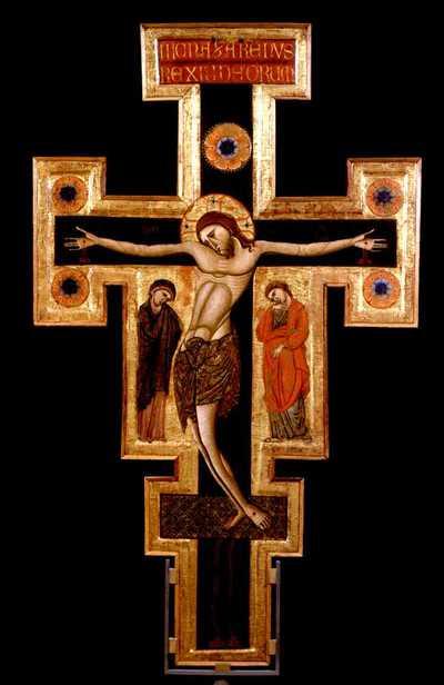 Cristo crocifisso con la Madonna e Santi