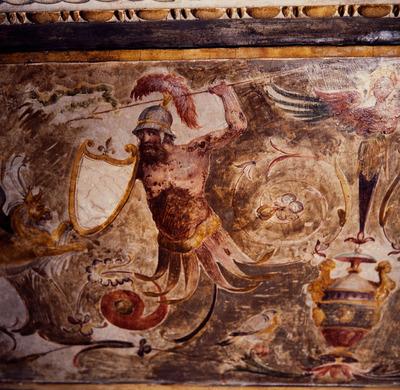 Storie di Roma e decorazioni a grottesche