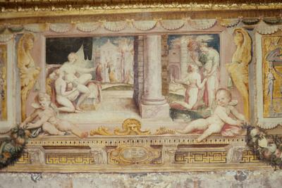 Psiche riceve da Venere l'ampolla da riempire con l'acqua dello Stige; Psiche discende agli Inferi; Psiche da Proserpina con la scatola della bellezza