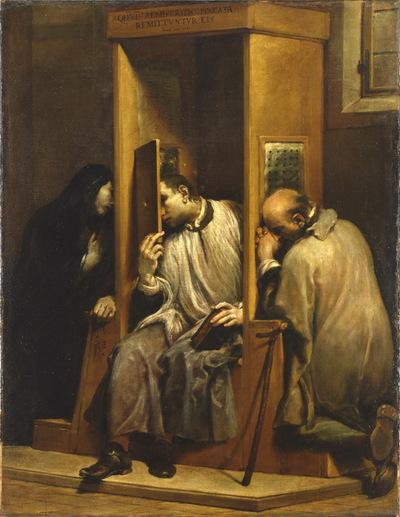 San Giovanni Nepomuceno confessa la regina d'Ungheria