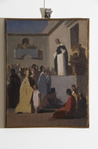 studio di San Vincenzo Ferreri dona i suoi averi ai poveri