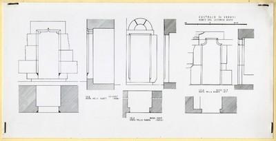 Castello di Verres/ Porte del secondo piano/ Sala sud-ovest/ porta nella parete nord; Sala nord-ovest/ porta nella parete ovest; Sala nord-est/ porta nella parete est