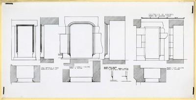 Castello di Verres/ Porte del secondo piano/ Sala centrale nord/ porta nella parete est; Parete-ovest- scalone/ porta a destra; Parete nord scalone/ porta a sinistra; porta a destra/ Parete est scalone/ porta a sinistra