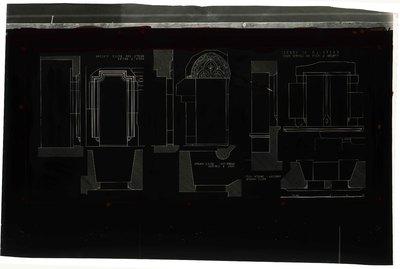 Castello di Verres/ Finestra e porte del secondo piano/ Finestra - parete est/ dello scalone; Parete sud dello scalone/ porta a sinistra; Parete sud dello scalone/ porta a destra