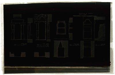 Castello di Verres/ Porte interne/ Secondo piano/ sala sud-est/ porta nella parete est; Primo piano/ sala sud-est/ porta nella parete est/ a destra; Primo piano/ sala nord-ovest/ armadio nella parete ovest