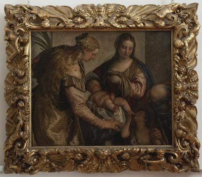 Sacra Famiglia con San Giovanni Battista bambino e Santa Barbara