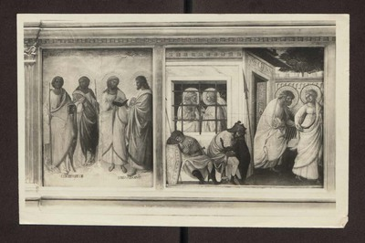 Firenze - Galleria degli Uffizi, (Palazzo degli Uffizi) - Due Predelle - Sant'Andrea, san Giovanni, san Matteo e san Filippo, San Pietro liberato dal carcere