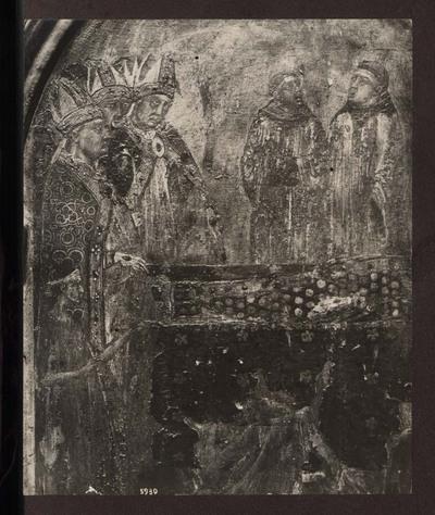 Napoli - Museo Nazionale di Capodimonte - Pala con S.Ludovico di Tolosa che impone al fratello Roberto d'Angiò la corona del regno di Napoli - Predella con le storie della Vita di San Ludovico di Tolosa, particolare