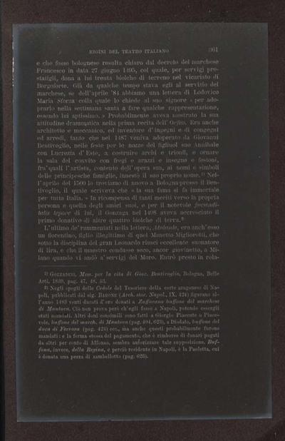 Alessandro D'Ancona, Origini del teatro italiano. Libri tre con due appendici sulla rappresentazione drammatica del contado toscano e sul teatro mantovano nel sec. 16., Torino, Ermanno Loescher, 1891, vol. 2., p. 361