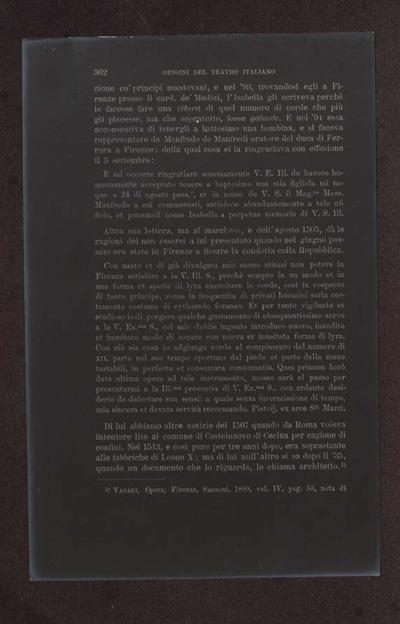 Alessandro D'Ancona, Origini del teatro italiano. Libri tre con due appendici sulla rappresentazione drammatica del contado toscano e sul teatro mantovano nel sec. 16., Torino, Ermanno Loescher, 1891, vol. 2., p. 362