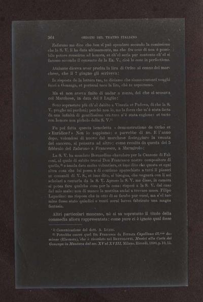 Alessandro D'Ancona, Origini del teatro italiano. Libri tre con due appendici sulla rappresentazione drammatica del contado toscano e sul teatro mantovano nel sec. 16., Torino, Ermanno Loescher, 1891, vol. 2., p. 364