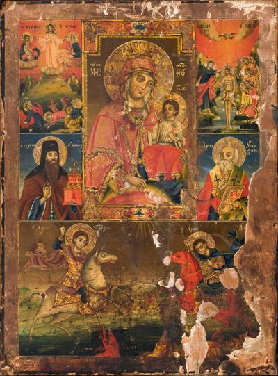 Madonna con Bambino, Santi ed episodi della vita di Cristo