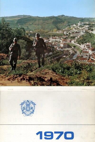 Calendário da Guarda Nacional Republicana [GNR] ano de 1970: [visual gráfico]