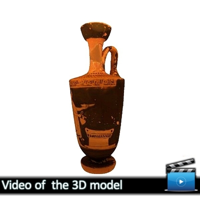 Πήλινη ερυθρόμορφη λήκυθος - Μουσείο Αβδήρων ΜΑ 6914 (VIDEO)