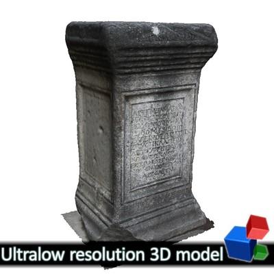 Church of Panagia Acheiropiitos - Tombstone (3D)