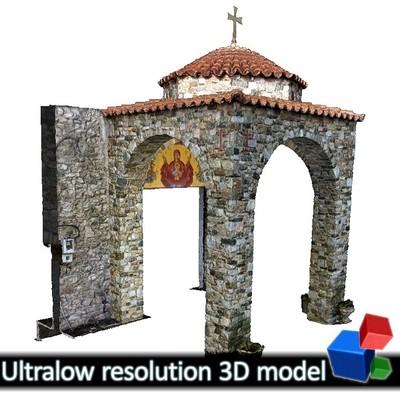 Monastery of Panagia Kalamou - Entrance (3D)