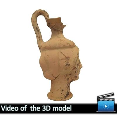 Head-Vase (Oinochoe) - Avdira Museum MA5425 (VIDEO)