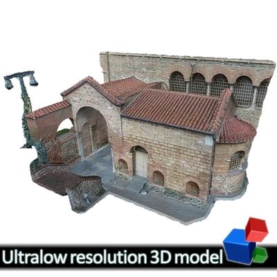 Church of Panagia Acheiropiitos -  St. Paraskevi chapel (Basilica's baptistery)  (3D)